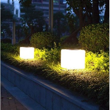 Square Solar LED Pillar Lamp ( No base)