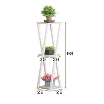 X Shape 3 Tier  Plant Rack/ Stand (White & Black )