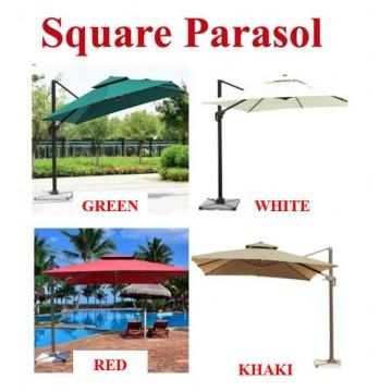 [SQUARE PARASOL]Patio Parasol Offset Hanging Umbrella Cantilever Umbrella Outdoor