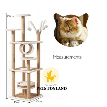 1.58m Cats Scratching Post Tree