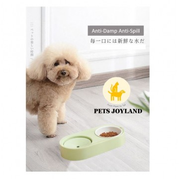 2-in-1 Anti-Damp Pets Food and Water Feeding Bowl Cat Dog