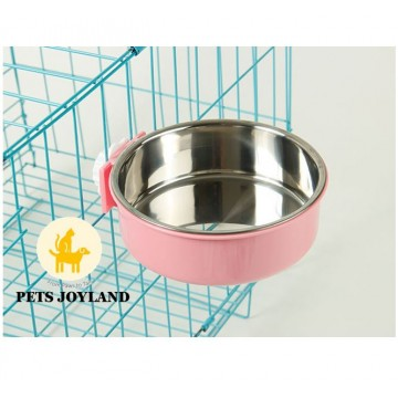 Pet's Feeder Bowl for Cage/Fence Cat and Dogs and Rabbits
