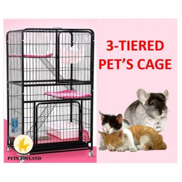 2 or 3 Level Metal Cat/rabbit cage