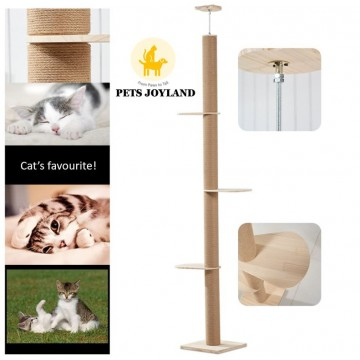 Cat Ceiling Scratching Pole Post