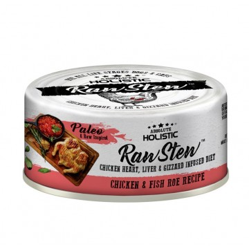 Absolute Holistic Rawstew Chicken & Fish Roe Wet Food for Dogs & Cats 80g