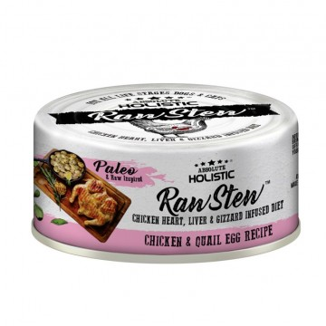 Absolute Holistic Rawstew Chicken & Quail Egg Wet Food for Dogs & Cats 80g