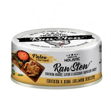Absolute Holistic Rawstew Chicken & King Salmon Wet Food for Dogs & Cats 80g