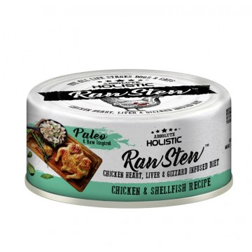 Absolute Holistic Rawstew Chicken & Shellfish Wet Food for Dogs & Cats 80g