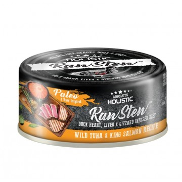 Absolute Holistic Rawstew Wild Tuna & King Salmon Wet Food for Dogs & Cats 80g