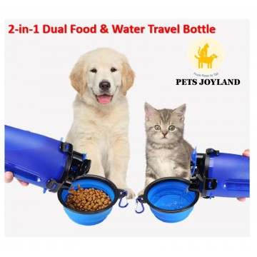 2-in-1 Travel Bottle for Cats, Dogs and other small animals