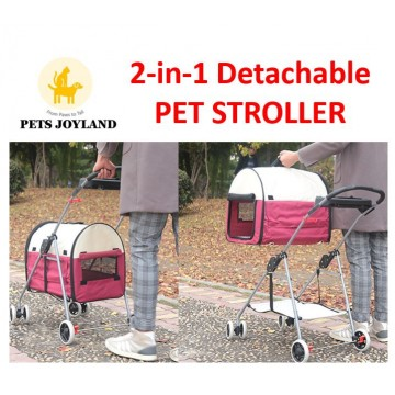 2-in-1 Detachable Cat and Dog Pet Stroller