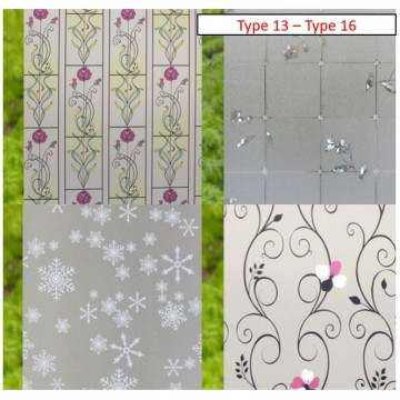 Frosted Window Privacy Films (Type 13 - Type 16)