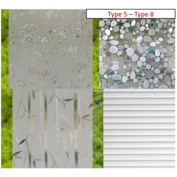 Frosted Window Privacy Films (Type 5 - Type 8)