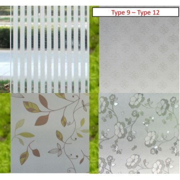 Frosted Window Privacy Films (Type 9 - Type 12)