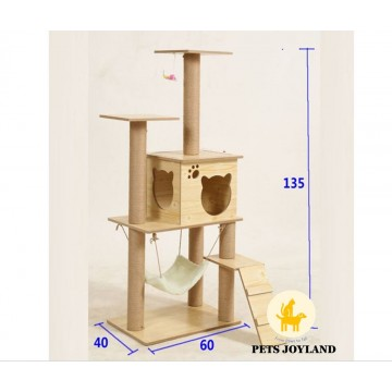 1.4m Single Wooden Plywood Cat Condo