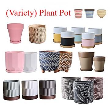 [SG SELLER] Ceramic Small Plant Pot Flower Pot Design Diamond