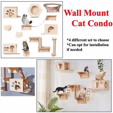 Wall Mount Cat Condo Set