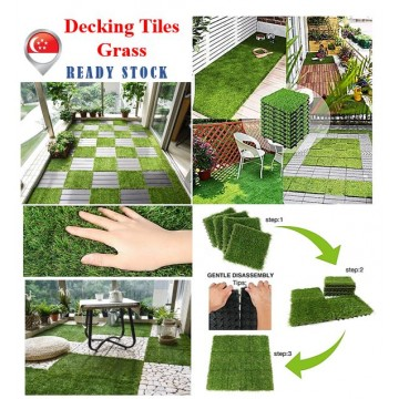 Artificial Grass Tile Interlocking Floor Tiles Grass Deck Mats Tile Fake Grass Turf