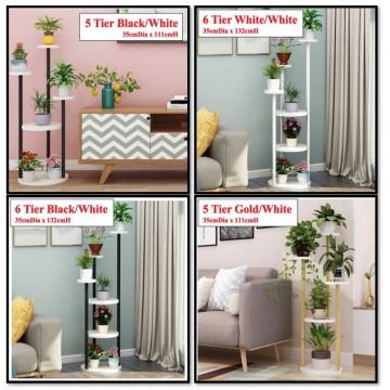 5tiers / 6 Tiers Metal Round Plant Racks / Plant Shelf / Plant Pot / Plant Stand