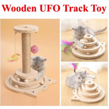 Wooden UFO Toys Pet Toys Cat toy