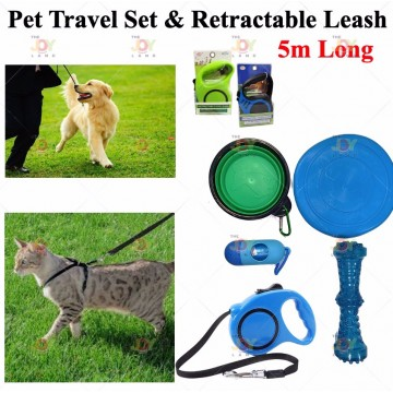 Automatic Retractable Pet Leash★ 5m Traction Rope/for Walk the Dog/Grip Handle/Lead/Puppy