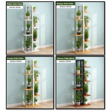 6 Tier Wooden Plant Rack/Flowers Stand For Garden