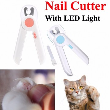 Pet nail cutter with led light Nail Clipper Dog Cat Nail Cutter