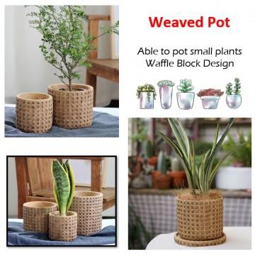 Weaved Plant Pot