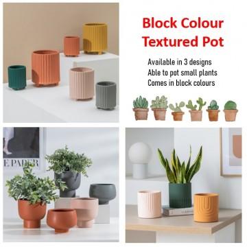 [ Variety] Block colour Texture Plant pot