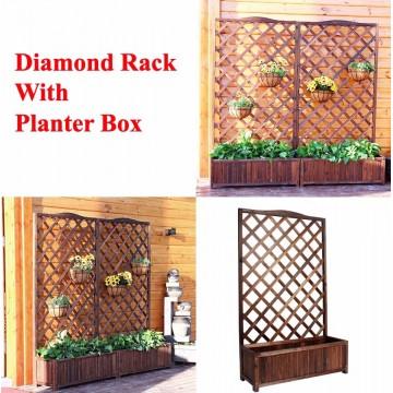 Diamond Rack With Planter Box Gardening Plant Rack Plant Box
