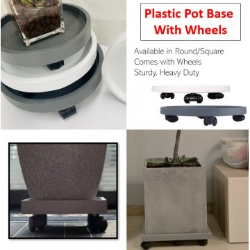 Plastic Pot Base With Wheels
